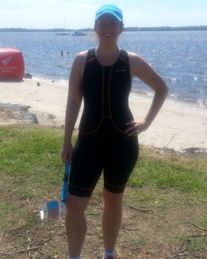 Jess after 2nd Triathlon