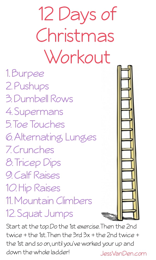 12 days of christmas workout jessvanden dot com
